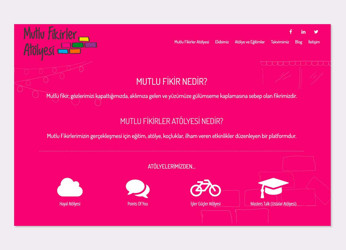Mutlu Fikirler Atölyesi Website Design