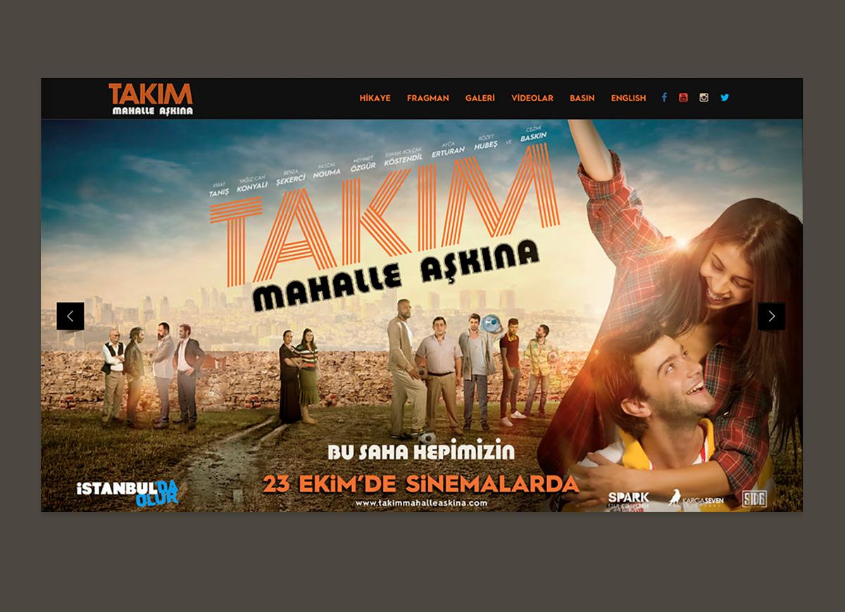 Takım: Mahalle Aşkına Movie Website Design