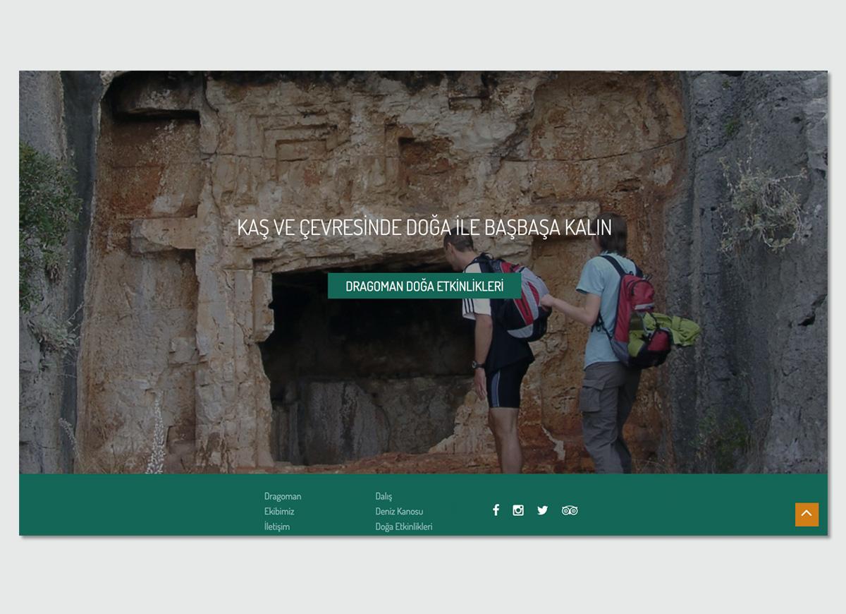 Dragoman Diving&Outdoor Website Design