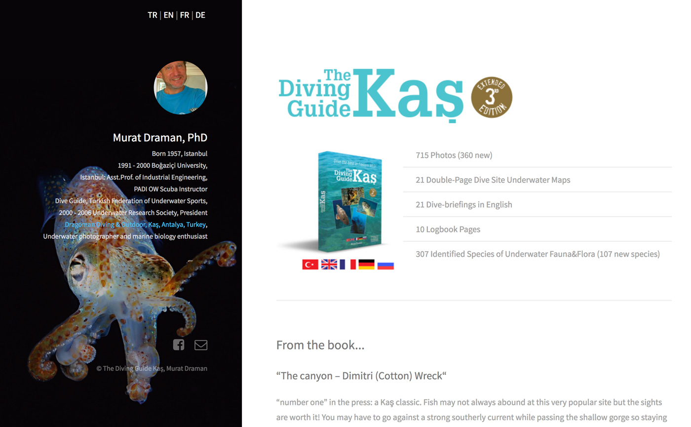 The Diving Guide Kaş Website Design