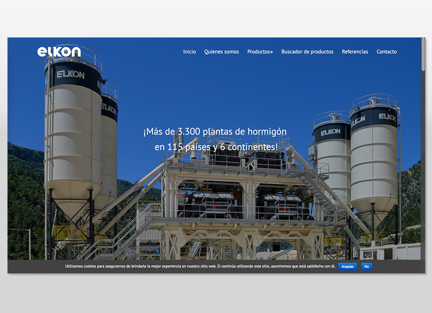 Elkon Plantas de Hormigón Website