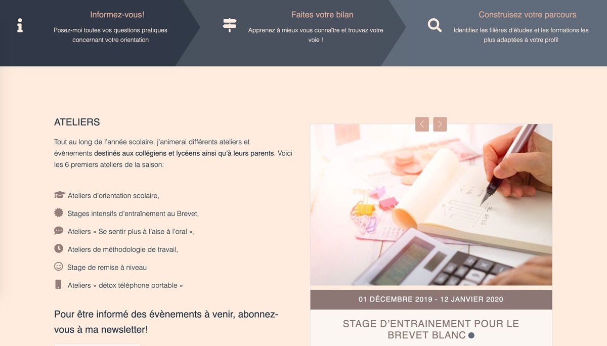 Meriem Draman - Conseil en orientation Website Design