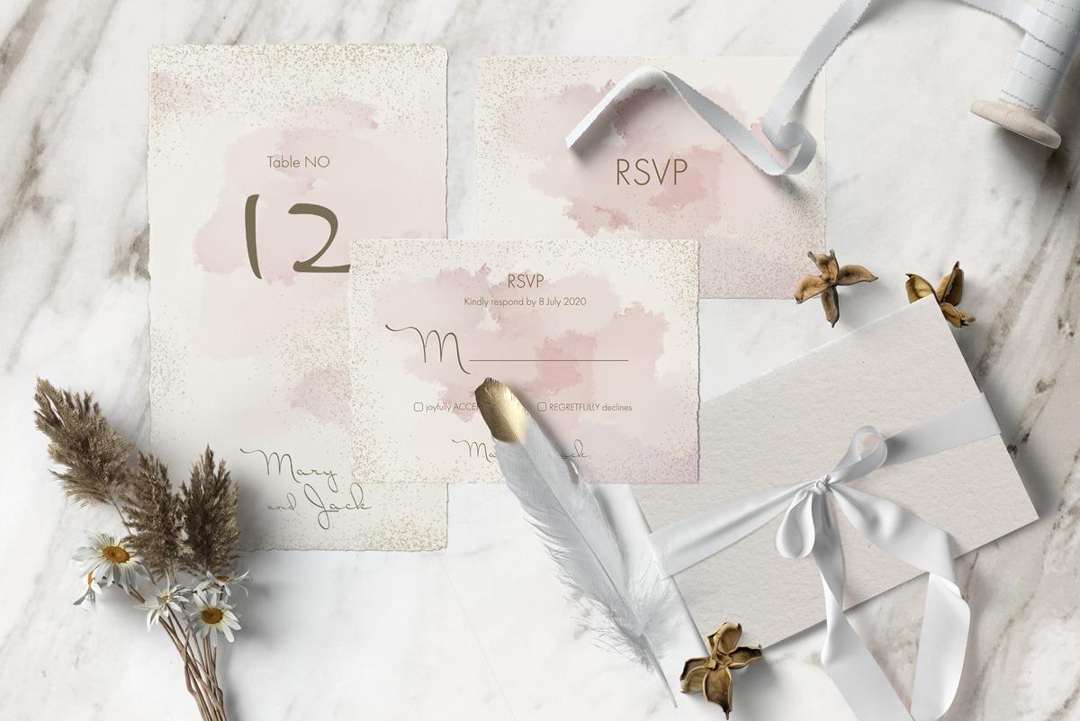 Pink & Gold Wedding Suite designed by Gökçe Durusoy