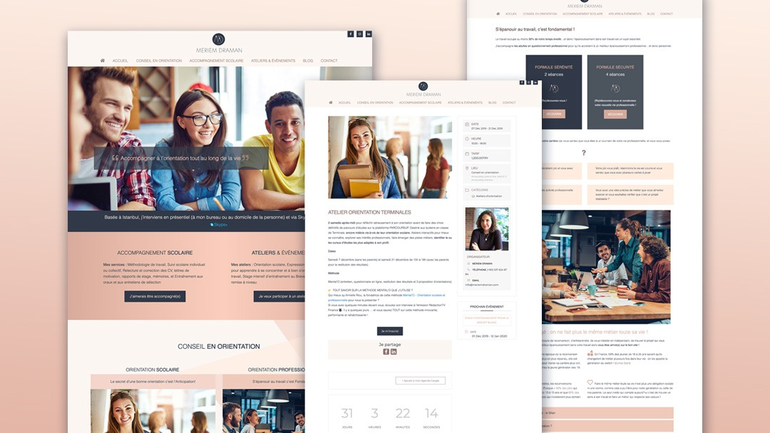 Meriem Draman - Conseil en orientation Website Design